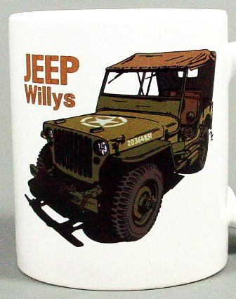 Retro hrnek -  JEEP Willys