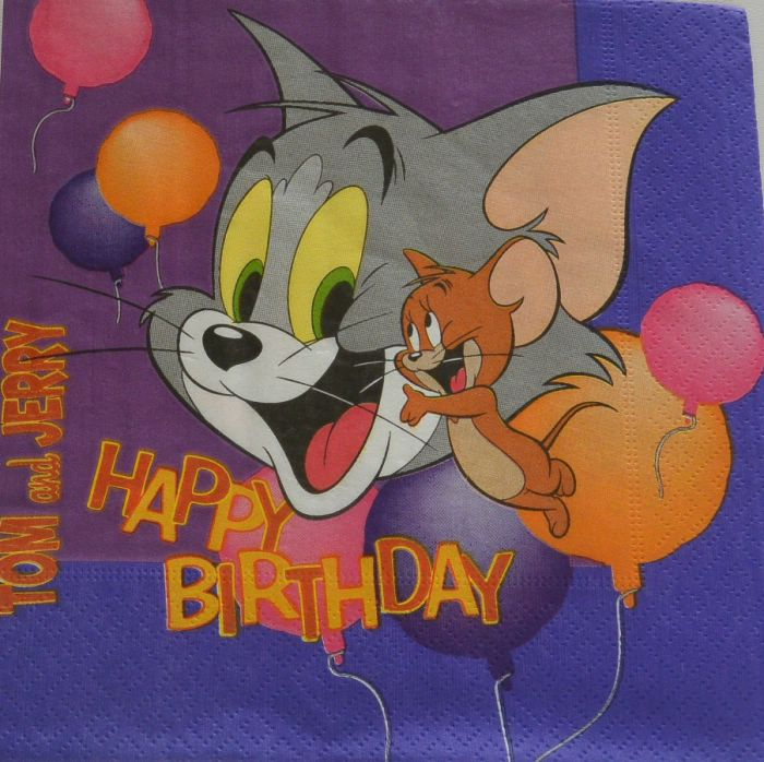 Ubrousek 33x33 cm - Tom a Jerry
