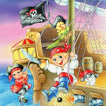 Ubrousek 33x33 cm - Pirate kids